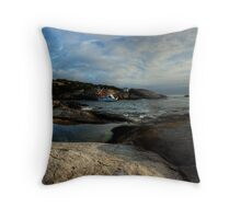 Jetty Bay, Montague Island Throw Pillow