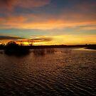 Pond Sunset by Jonathon Wuehler
