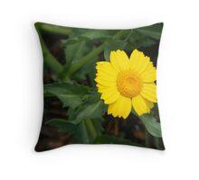 Microscopic Daisy Throw Pillow