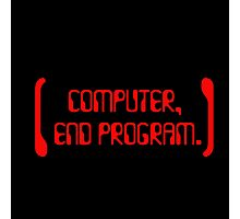 Computer, End Program - Logo Design  Photographic Print