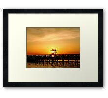 Warmth of a sunrise Framed Print