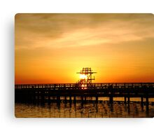 Warmth of a sunrise Canvas Print
