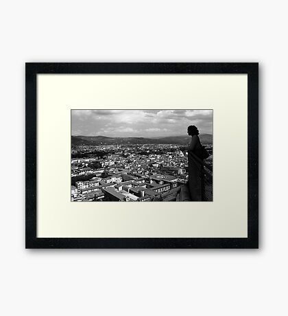 A View from the Duomo Framed Print