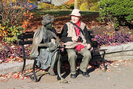 Enjoying a Chat in the Park, Vancouver, Canada  by Carole-Anne