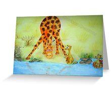 Cedric the Giraffe - Illustration 2 Greeting Card
