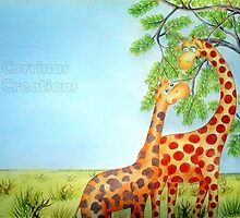 Cedric the Giraffe - Illustration 7 by Corrina Holyoake