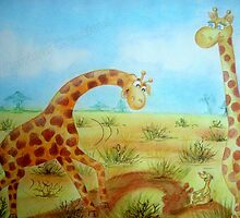 Cedric the Giraffe - Illustration 8 by Corrina Holyoake