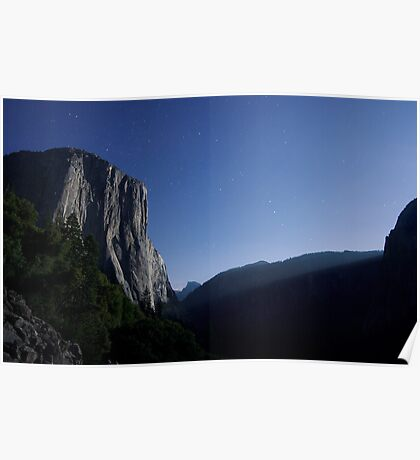 El Capitan by Moonlight Poster