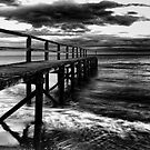 Shelly Pier Storm  by Damon Colbeck