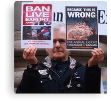 Ban Live Export rally Canvas Print