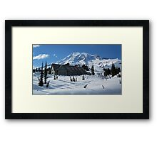 Paradise Inn at Mount Rainier Spring 2011 Framed Print