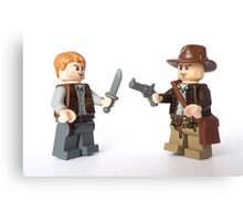 Nice try kid, but I think you just brought a knife. To a gunfight Canvas Print