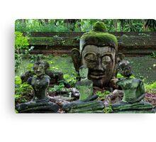 Ancient Buddha images, Wat Umong, Thailand Canvas Print