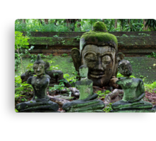 Ancient Buddha images, Wat Umong, Thailand Canvas Print
