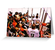 Anaheim Ducks Players Take The Ice Greeting Card