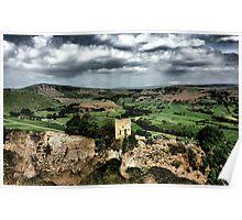 Peveril Castle, Mam Tor, Hope Valley. Poster