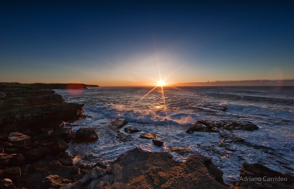 Winter's morning sunrise by Adriano Carrideo