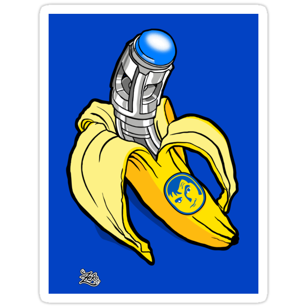 Sonic Banana Stickers by zerobriant