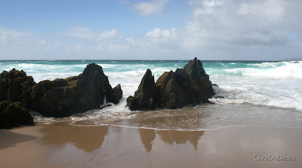 Coumeenole Beach Rocks - Dingle Peninsula, Ireland by CliveOnBeara