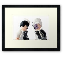 Two... Face... Off Framed Print