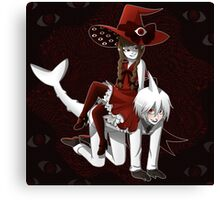 Deep Sea Prisoner - Sal and Wadanohara Canvas Print