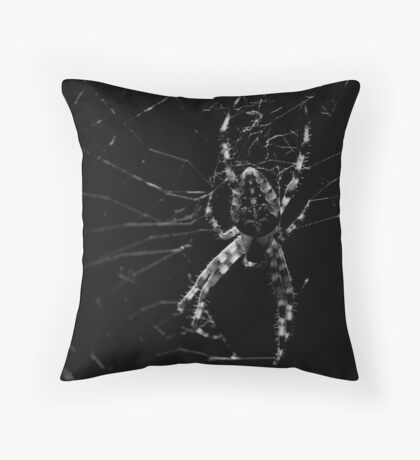 Creepy Spider Throw Pillow