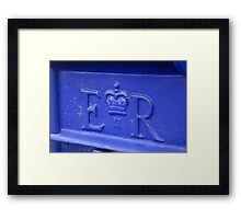 Blue Postbox Framed Print