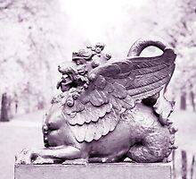 Gryphon statue  by torishaa