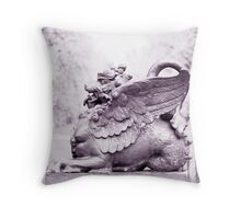 Gryphon statue  Throw Pillow