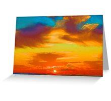 Tie Dye Sky Greeting Card