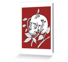 Skull and Berries Greeting Card