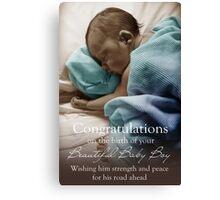 New Born Baby Boy - NICU Stay Canvas Print