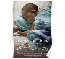 New Born Baby Boy - NICU Stay Poster