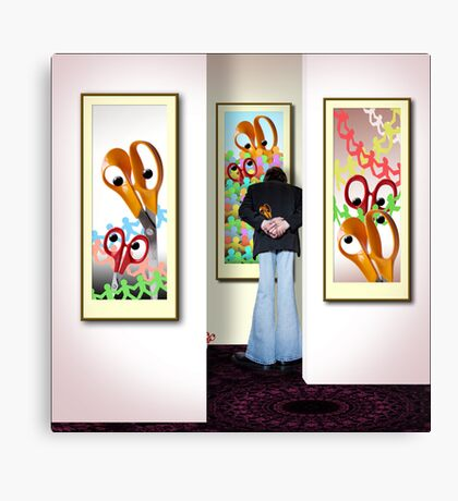 In a Corner of the Gallery Canvas Print