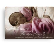 New Born Baby Girl - NICU Stay Canvas Print