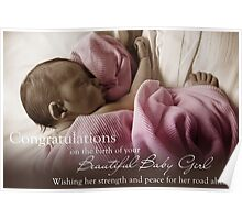New Born Baby Girl - NICU Stay Poster