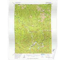 USGS Topo Map California Happy Camp 297638 1956 62500 Poster