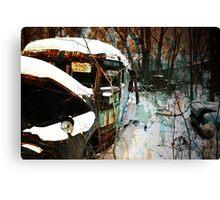 Broken Down Bus Canvas Print