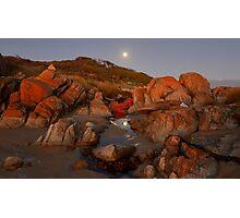 """ Moon Rise Cape Conran Vic. Photographic Print"