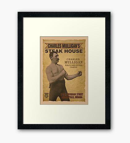 Charles Mulligan's Steak House Framed Print
