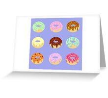 Yummy Pastel Pattern Donuts Doughnuts  Greeting Card