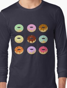 Yummy Pastel Pattern Donuts Doughnuts  Long Sleeve T-Shirt