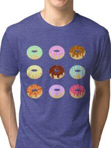 Yummy Pastel Pattern Donuts Doughnuts  Tri-blend T-Shirt