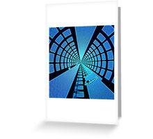 Blue Polar Distort Greeting Card