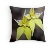 Jumping Jacks - Cowslip orchids Throw Pillow