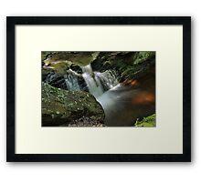 Water Movement - Tillman Ravine Framed Print
