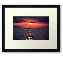 At The End Of Twilight Framed Print