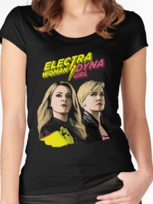 EWDG Comic - No Background Women's Fitted Scoop T-Shirt