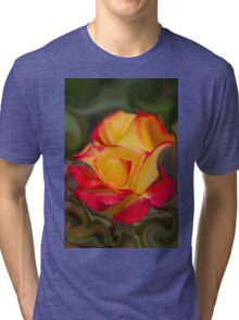 abstract roses in the garden Tri-blend T-Shirt