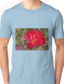 abstract roses in the garden Unisex T-Shirt